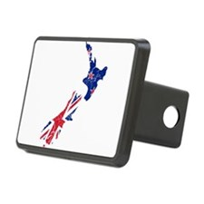 New Zealand Flag And Map Hitch Cover