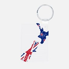 New Zealand Flag And Map Keychains
