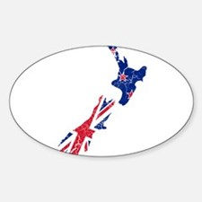 New Zealand Flag And Map Decal