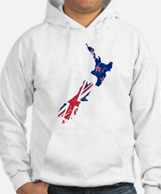 New Zealand Flag And Map Hoodie