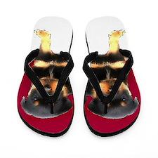 Christmas Rottweiler puppies Flip Flops