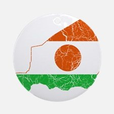 Niger Flag And Map Ornament (Round)