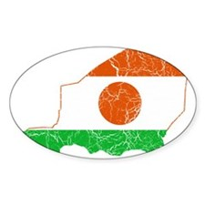 Niger Flag And Map Decal