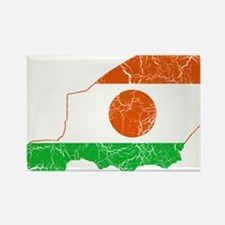 Niger Flag And Map Rectangle Magnet