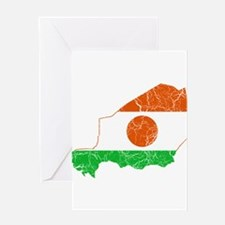 Niger Flag And Map Greeting Card