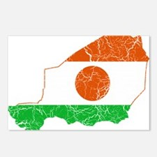 Niger Flag And Map Postcards (Package of 8)