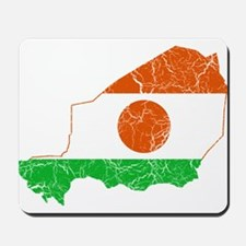 Niger Flag And Map Mousepad