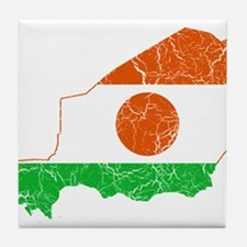 Niger Flag And Map Tile Coaster