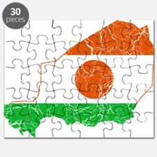 Niger Flag And Map Puzzle
