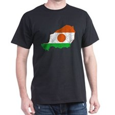 Niger Flag And Map T-Shirt