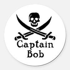 Captain Bob Round Car Magnet