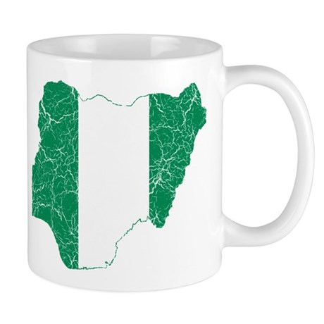 Nigeria Flag And Map Mug