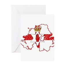 Northern Ireland Flag And Map Greeting Card