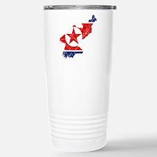 North Korea Flag And Map Travel Mug