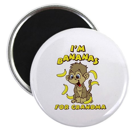 I'm Bananas For Grandma Magnet