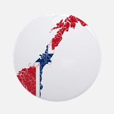 Norway Flag And Map Ornament (Round)