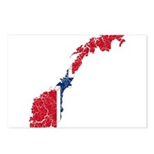 Norway Flag And Map Postcards (Package of 8)