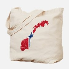 Norway Flag And Map Tote Bag