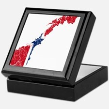 Norway Flag And Map Keepsake Box