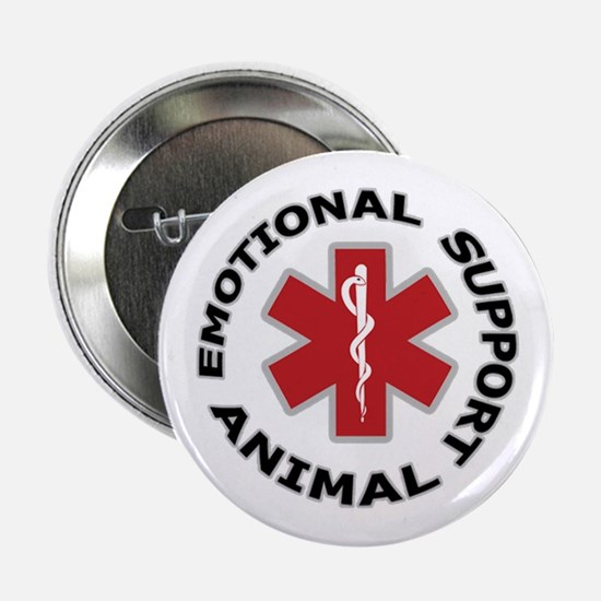"""Emotional Support Animal 2.25"""" Button"""