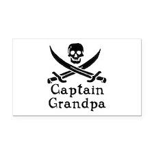 Captain Grandpa Rectangle Car Magnet