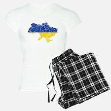 Ukraine Flag And Map Pajamas
