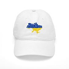 Ukraine Flag And Map Baseball Cap