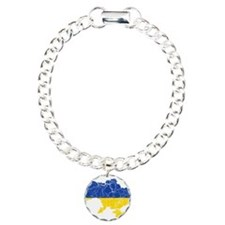 Ukraine Flag And Map Bracelet