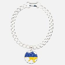 Ukraine Flag And Map Bracelet