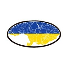 Ukraine Flag And Map Patches