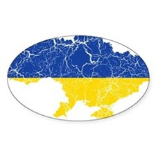 Ukraine Flag And Map Decal