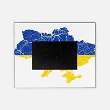 Ukraine Flag And Map Picture Frame