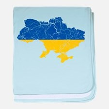 Ukraine Flag And Map baby blanket