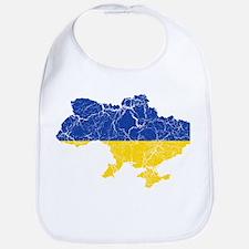 Ukraine Flag And Map Bib