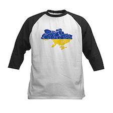 Ukraine Flag And Map Tee