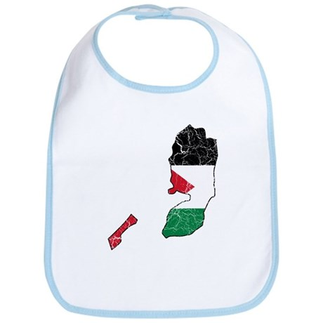 Palestine Flag And Map Bib