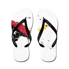 Papua New Guinea Flag And Map Flip Flops