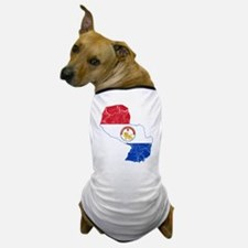 Paraguay Flag And Map Dog T-Shirt