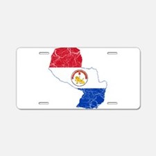 Paraguay Flag And Map Aluminum License Plate