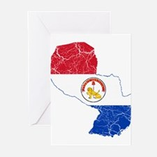 Paraguay Flag And Map Greeting Cards (Pk of 20)