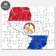 Paraguay Flag And Map Puzzle