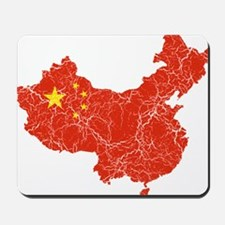 China Flag And Map Mousepad