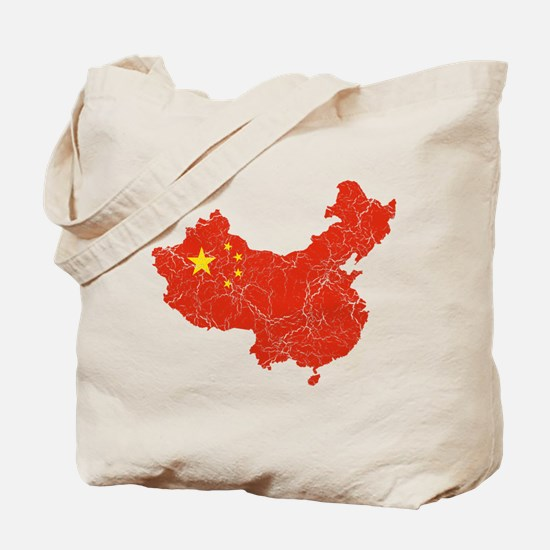 China Flag And Map Tote Bag