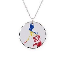 Philippines Flag And Map Necklace