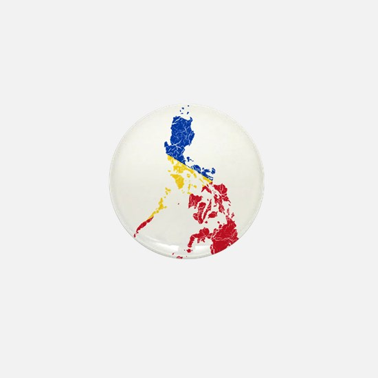 Philippines Flag And Map Mini Button
