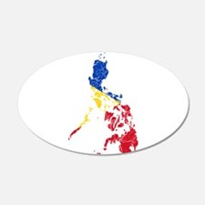 Philippines Flag And Map Wall Decal