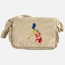 Philippines Flag And Map Messenger Bag