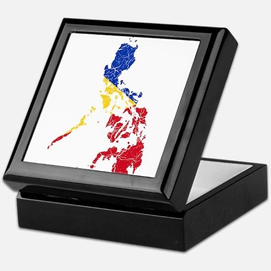 Philippines Flag And Map Keepsake Box