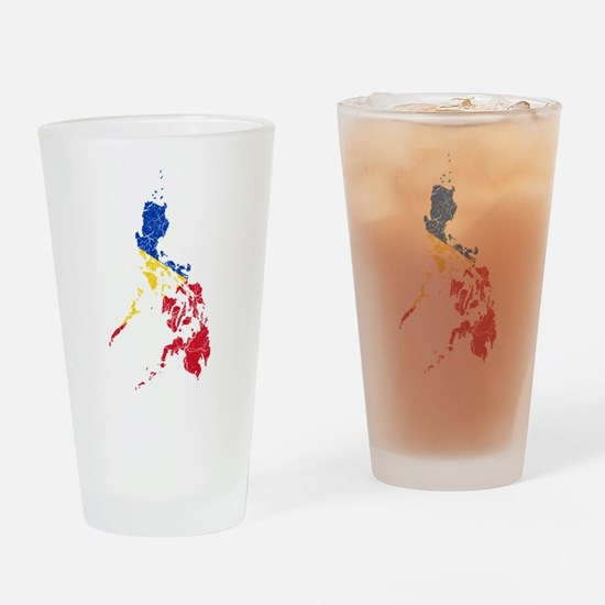 Philippines Flag And Map Drinking Glass