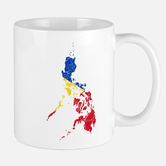 Philippines Flag And Map Mug
